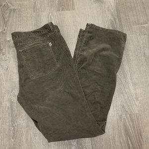 North Face Corduroy Pants 14 Gray Straight RB67